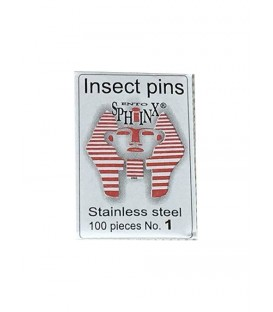 Stainless steel pins, 100 per packet.