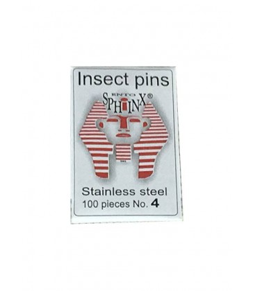 Stainless steel pins, 100 per packet