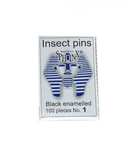 Epingles entomologiques noires